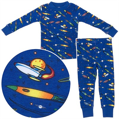 Agabang Rocket Organic Cotton Pajamas for Toddlers and Boys