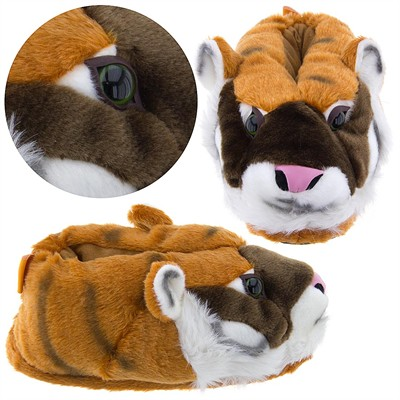 Orange Tiger Animal Slippers for Women and Men