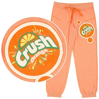 Orange Crush Capri Pajama Pants for Juniors