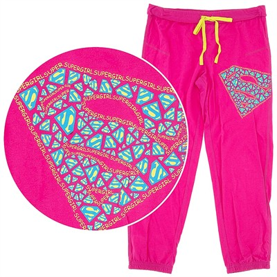 Supergirl Pink Capri Pajama Pants for Juniors