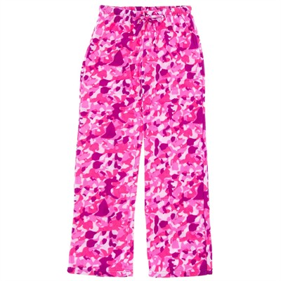 Pink Camo Fleece Pajama Pants for Women