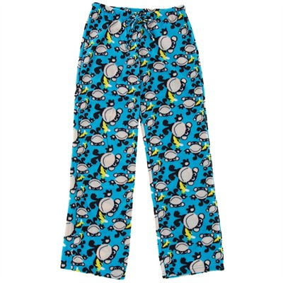 Blue Monkey Fleece Pajama Pants for Women