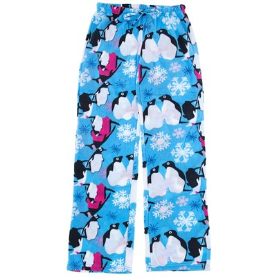 Blue Penguin Fleece Pajama Pants for Women