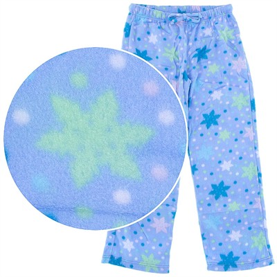 Light Blue Snowflake Pajama Pants for Women