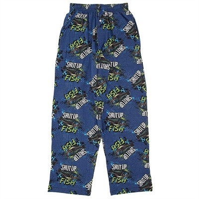 Fun Boxers Shut Up and Fish Pajama Pants for Men