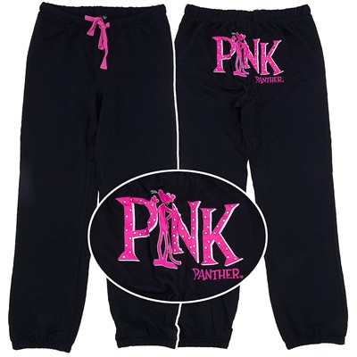 Pink Panther Black Pajama Pants for Juniors