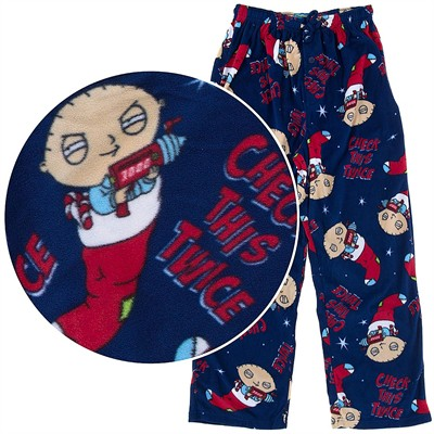 Stewie Check This Twice Fleece Pajama Pants for Men