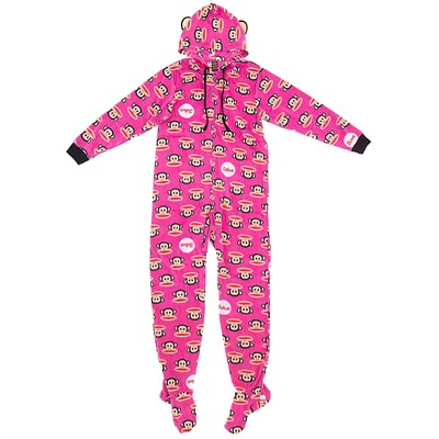 Paul Frank Pink Julius Onesie Footed Pajamas for Women