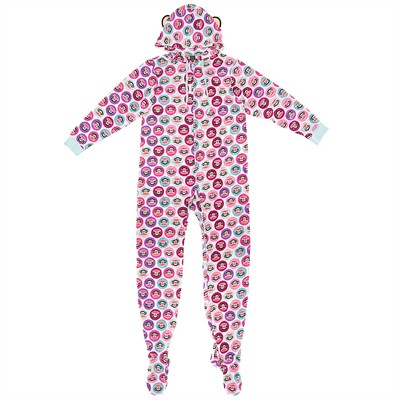 Paul Frank White Julius Onesie Footed Pajamas for Women