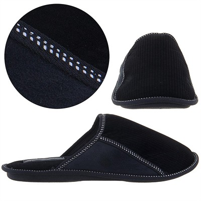Perry Ellis Portfolio Black Slip On Slippers for Men