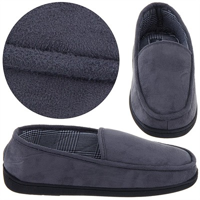 Perry Ellis Gray Slip On Slippers for Men