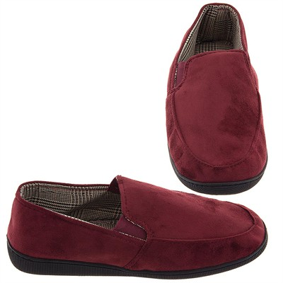 Perry Ellis Portfolio Burgundy Slippers for Men