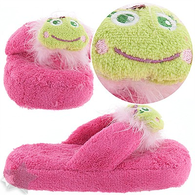 Pink Frog Thong Slippers for Girls
