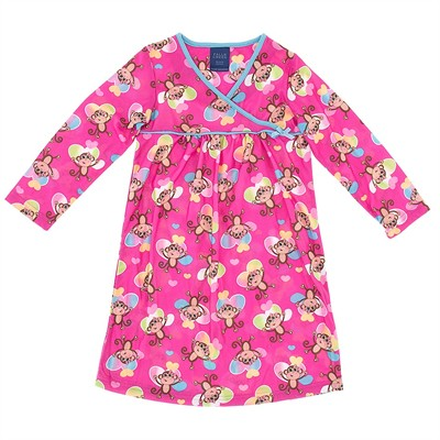 Pink Monkey Nightgown for Girls