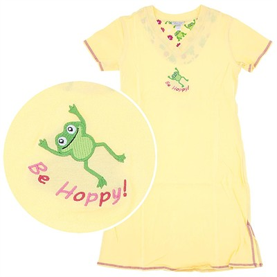 Yellow Be Hoppy Nightshirt for Women