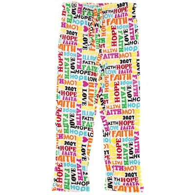 Faith, Love, Hope Plus Size Pajama Pants for Women