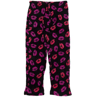 Lip Print Plus Size Pajama Pants for Women
