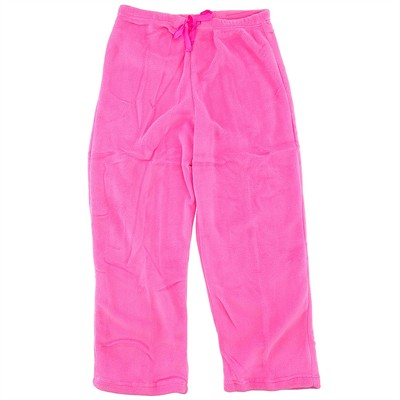 Bright Pink Plush Pajama Pants for Women