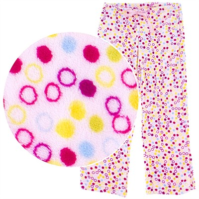 Pink Bubbles Plush Pajama Pants for Women