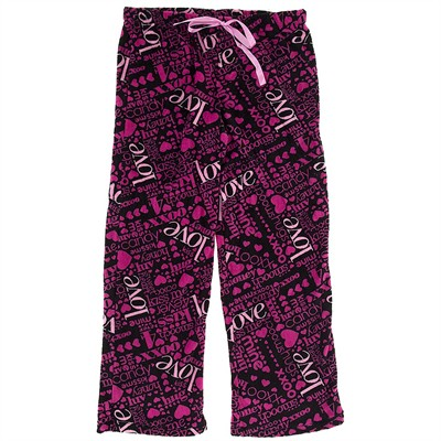 Love and Kisses Plush Pajama Pants for Women