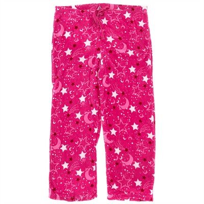 Pink Moon Plush Pajama Pants for Women