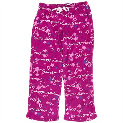 Pink Upon a Star Plush Pajama Pants for Women