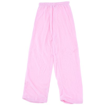 Pink Plush Pajama Pants for Women