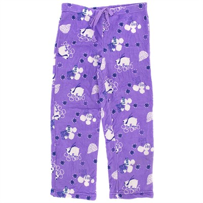 Purple Polar Bear Plush Pajama Pants for Women