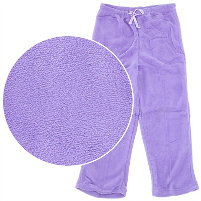 Purple Plush Pajama Pants for Women