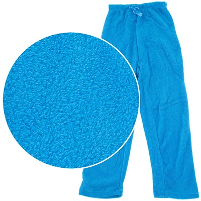 Turquoise Plush Pajama Pants for Women