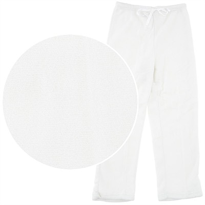 Winter White Plush Pajama Pants for Women