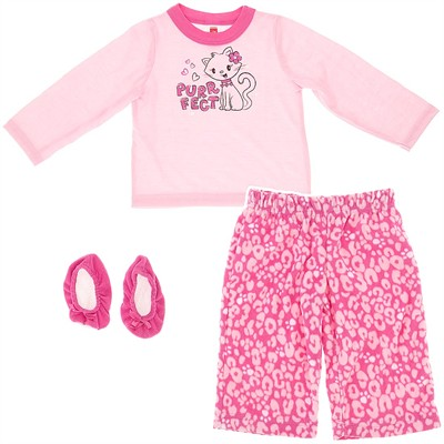 Pink Purfect Pajamas for Infant and Toddler Girls