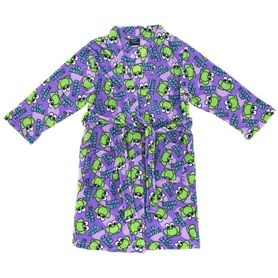 Purple Frog Fleece Bathrobe for Juniors