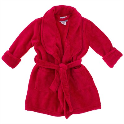 Red Plush Bath Robe for Boys