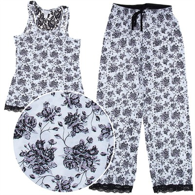 Rene Rofe Black Floral Pajamas for Women