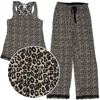 Rene Rofe Brown Leopard Pajamas for Women