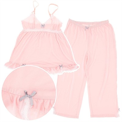 Rene Rofe Peach Just for Frills Capri Pajamas for Women