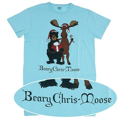 Lazy One Beary Chris-Moose Christmas Nightshirt for Women