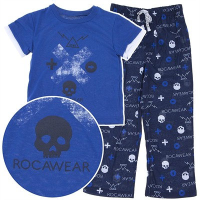 Rocawear Blue and Black Pajamas for Toddlers and Boys