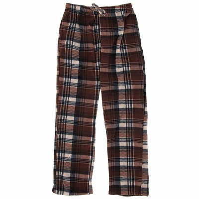Brown Fleece Lounge Pajamas for Men