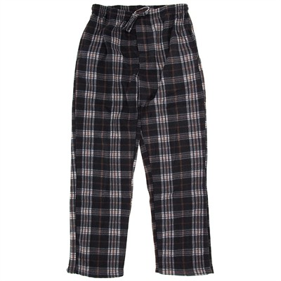 Gray and Brown Fleece Lounge Pants for Men