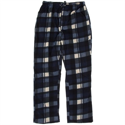 Navy Fleece Lounge Pajamas for Men