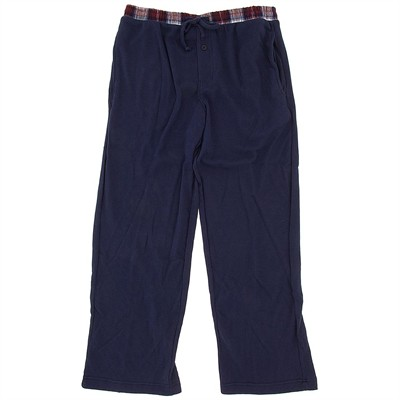 Navy with Plaid Thermal Lounge Pants for Men