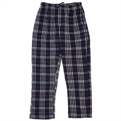 Navy and Red Fleece Lounge Pajamas for Men