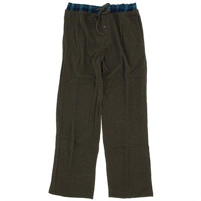 Olive Thermal Lounge Pants for Men