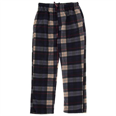 Gray, Red, and Tan Fleece Lounge Pajamas for Men