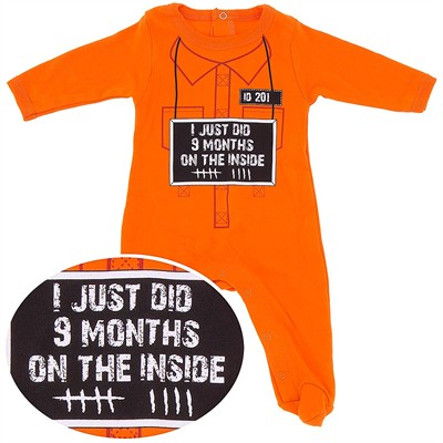 Nine Month on the Inside Cotton Footie for Baby Boys