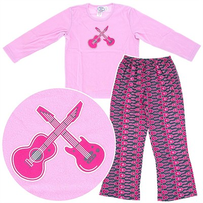 Sara's Prints Pink Guitar Pajamas for Girls