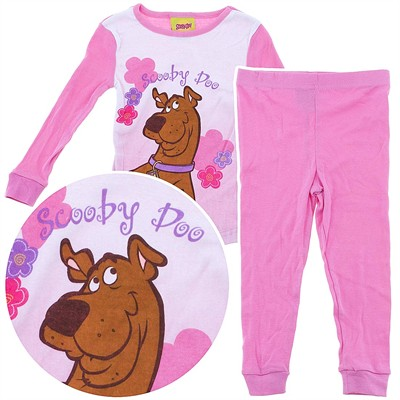 Scooby Doo Pink Cotton Pajamas for Toddler Girls