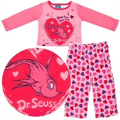 One Fish Two Fish Fleece Pajamas for Baby Girls